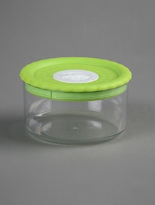 Green lid round container