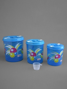 Blue printed container set