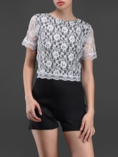 Lace Short Sleeves Romper - Liebemode