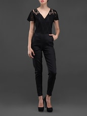 Poly Cotton & Lace Bell Sleeves Jumpsuit - Liebemode
