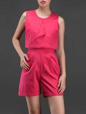 Pink Back Cut-out Romper - Liebemode
