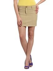 Cotton Handloom Short Skirt - Desiweaves