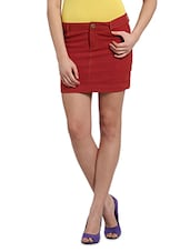 Cotton Handloom Mini  Skirt - Desiweaves