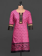 Ethnic Print Cotton Kurta - SHREE