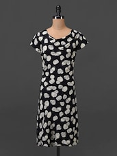 Rose Printed Short Sleeves Dress - MOTIF