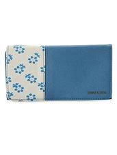 Blue Floral Printed Wallet - Donna & Drew