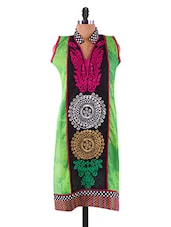 Mandrin Collar Heavy Embroidered Kurta - By