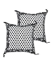 Polka Dots Printed Cotton Cushion Covers Set Of 2 - ECraftIndia