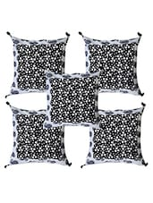 Polka Dots Printed Cotton Cushion Covers Set Of 5 - ECraftIndia - 1075768