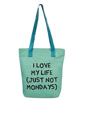 Quoted Jute Shopping Bag - Earthen Me