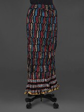 Block Printed Long Skirt - Soundarya