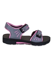 Rubber Sole Leatherette Floater Sandals - Irus