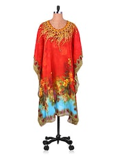 Floral Inspired Round Neck Kaftan - 7 Colors Lifestyle