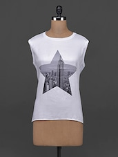 Star Printed Sleeveless Cotton Top - AHE