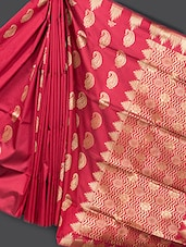 Traditional Red Art Silk Saree - Prabha Creations