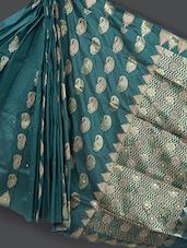 Traditional Dark Green Art Silk Saree - Prabha Creations