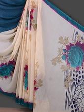 Floral Printed Georgette Saree - Bunny Sarees