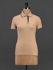 Short Sleeve Polo Neck Cotton T-shirt - Meira