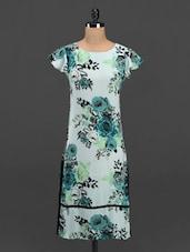 Floral Print Cap Sleeve Crepe Kurta - Meira