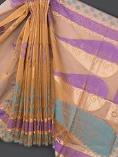 Beige Art Silk Saree - Prabha Creations