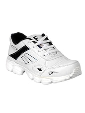 white,black leatherette sport shoes -  online shopping for Sport Shoes