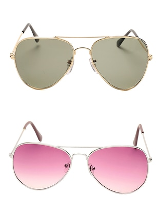 black and pink Metal Sunglasses Set of 2 -  online shopping for Sunglasses