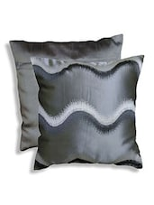 Grey Polyester And Cotton Cushion Cover - By