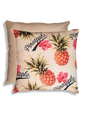 Multi Colored Poly Cotton Cushion Cover - By