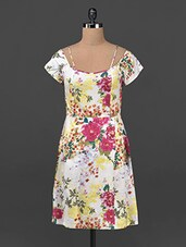Floral Print Cotton A-line Dress - Ridress