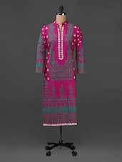 Printed Long Sleeves Cotton Kurta - SHREE