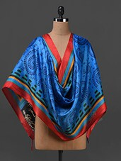Tribal Print Silk Blend Dupatta - By