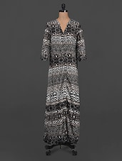 Animal Printed Quarter Sleeve Maxi Dress - LastInch