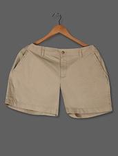 Solid Beige Hot Pants - LastInch