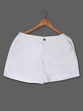 Solid White Hot Pants - LastInch