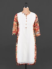 Graphic Print Long Sleeved Georgette Kurta - Maybell
