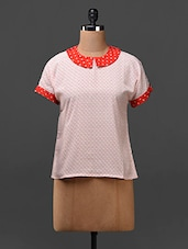 Short Sleeves Peter Pan Collar Top - Citrine