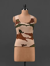Camo Print Tank Top - Finesse