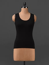 Sleeveless Black Tank Top - Finesse