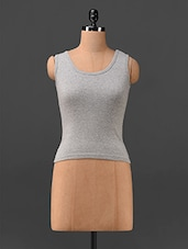 Round Neck Grey Tank Top - Finesse
