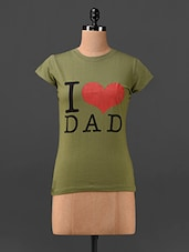 Green I Love Dad Quoted T-shirt - Finesse