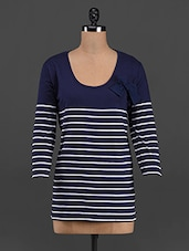 Round Neck Nautical Striped Top - LastInch