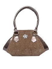 Brown Cotton Canvas Handbag - Bags Mantra