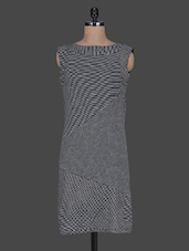 Striped Sleeveless Cotton Knit Bodycon Dress - Color Cocktail
