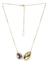 Gold Metal Alloy Necklace - Golden Peacock