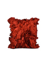 Red Polyester Single Cushion Cover - By