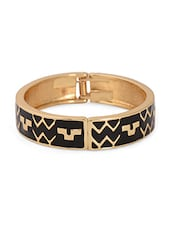 Metal Alloy Black & Golden Bracelet - Bg's