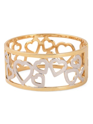 Two tone Metal Alloy Heart Bracelet -  online shopping for Bracelets
