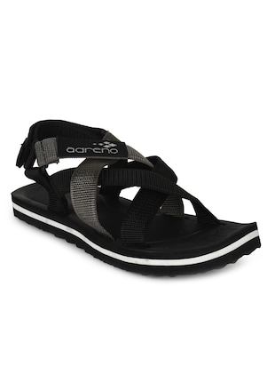 black polyester sandals and floaters -  online shopping for Sandals and Floaters