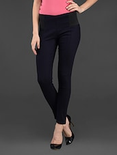 Mid Waist Cotton Lycra Jegging - Ozel Studio