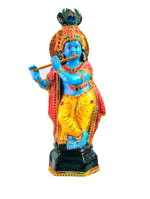 HOME DECORATIVE FIBER KRISHNA WITH FLUTE -  online shopping for Wall Hanging